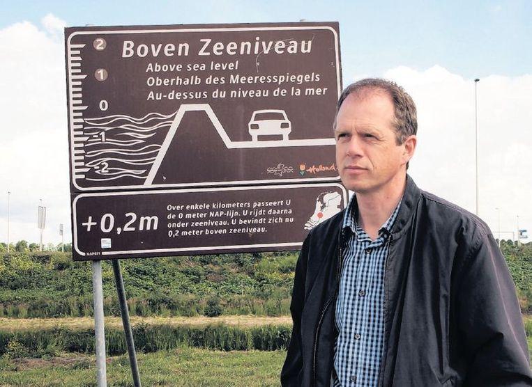 Adwin Bosschaart: 'Mij overkomt dat niet, zo'n overstroming. Dat is de heersende opvatting.' Beeld
