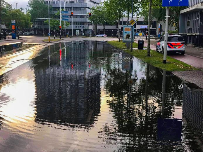 Overlast in Eindhoven na de storm.