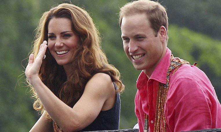Kate en William op reis op de Solomon-eilanden Beeld AFP