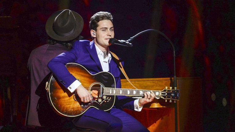 Douwe Bob tijdens het Songfestival Beeld anp