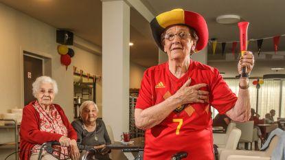 """Mariette (89): """"Sorry, verplegers. Als we WK winnen, breken we het kot af"""""""