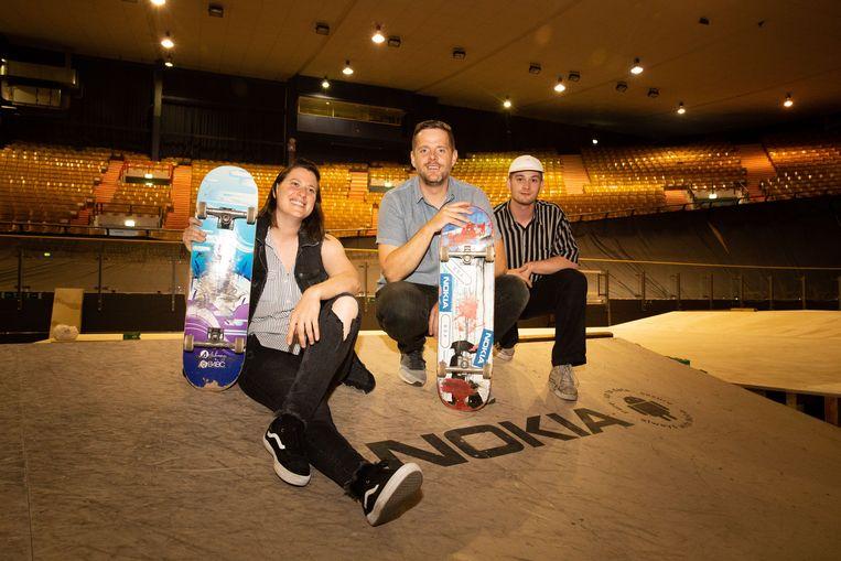 Evenlien Bouillaert, Anton De Groot en skater Ewout Dujardin
