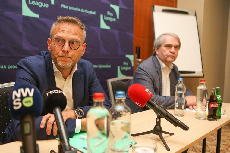 Peter Croonen (voorzitter) en Pierre François (CEO) van de Pro League.