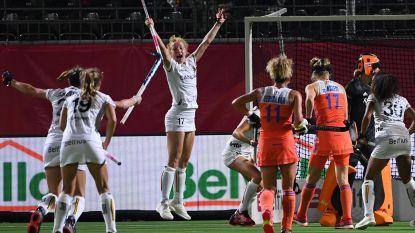 Red Panthers beginnen met stunt aan EK: België speelt 1-1 gelijk tegen titelverdediger Nederland