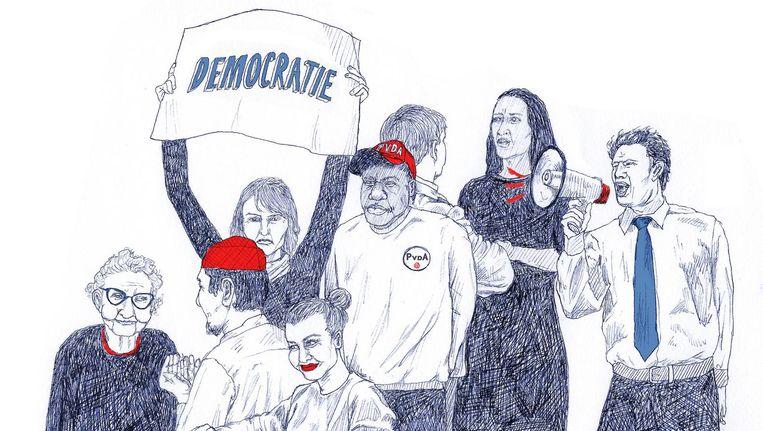 De tevredenheid over ons democratische bestel is sinds de jaren zeventig gestegen van 55 procent naar 75 procent. Beeld Ted Struwer