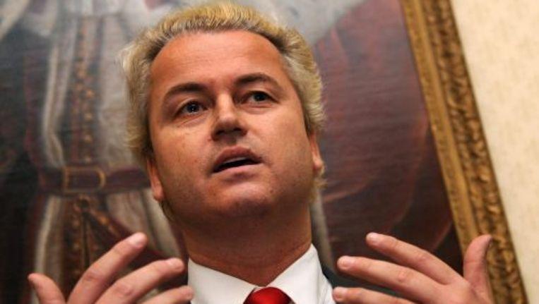 De PVV-leider reageerde op een bericht in de Volkskrant over een onderzoek naar radicalisering en polarisatie. Foto ANP Beeld