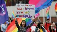 Massademonstratie voor homohuwelijk in Belfast