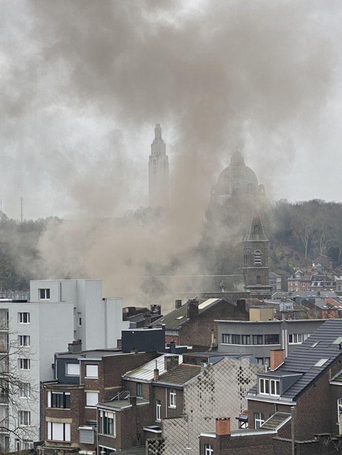 Explosion à Liège, le 2 décembre 2020.