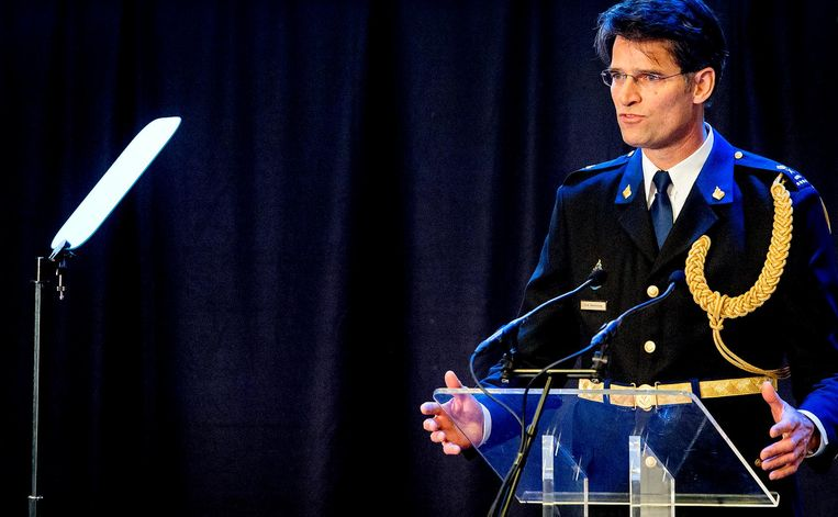 Erik Akerboom wordt geïnstalleerd als chef van de Nationale Politie in 2016. Beeld anp