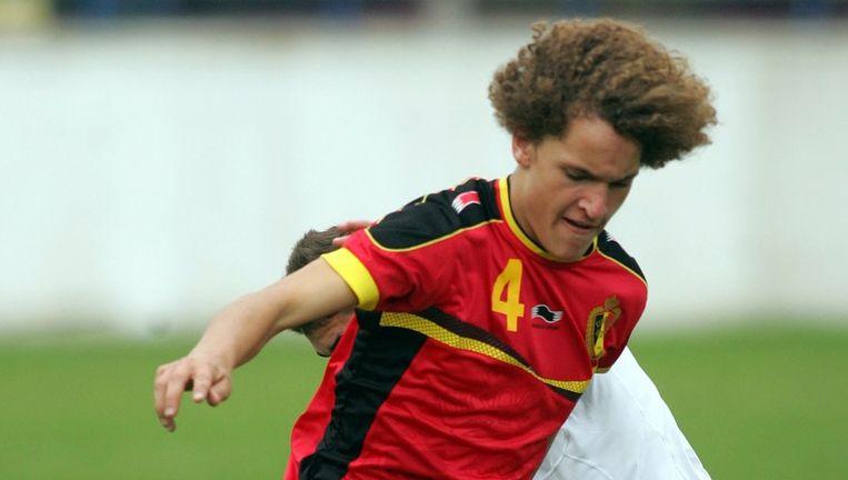 Wout Faes aan het werk met de nationale ploeg.
