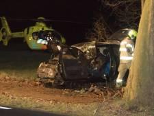 Ernstig ongeluk bij Nijkerk: bestuurder gewond door harde crash tegen boom langs N301