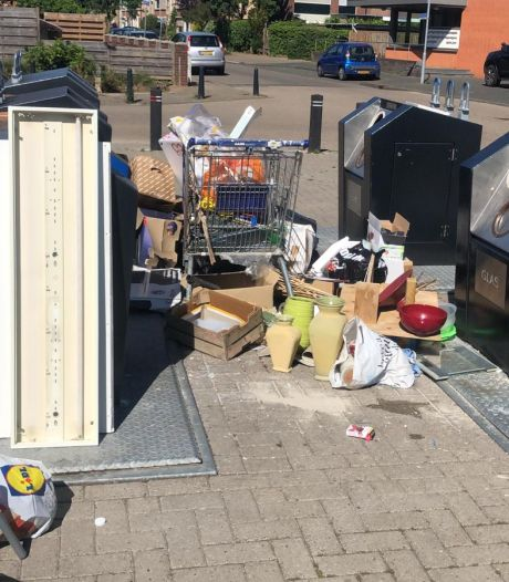 Enorme berg afval gedumpt rondom containers in Doesburg