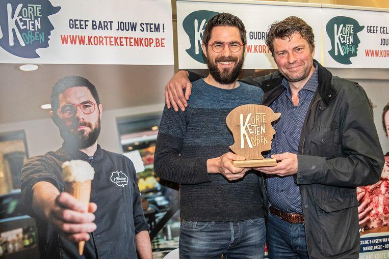 Bart kreeg de trofee uit handen van Wim Lybaert.