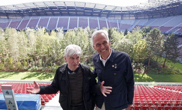 Kunstenaars Max Peintner  en Klaus Littmann.