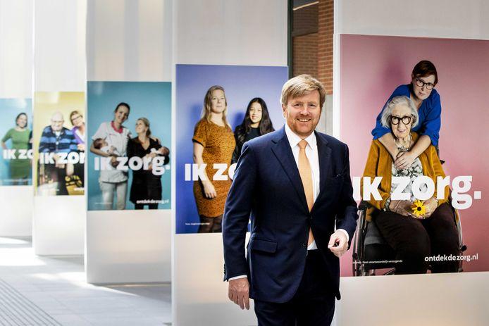 Koning Willem-Alexander bracht een bezoek aan het ministerie van Volksgezondheid.