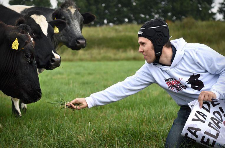 'Vegan Streaker' Peter Janssen. Beeld Marcel van den Bergh / de Volkskrant
