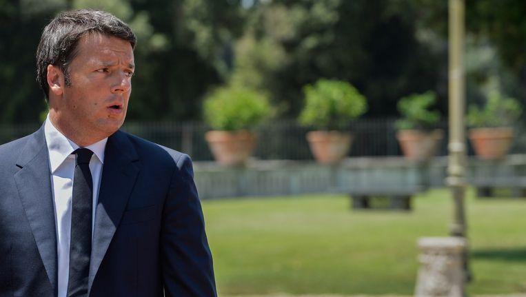 De Italiaanse premier Matteo Renzi.