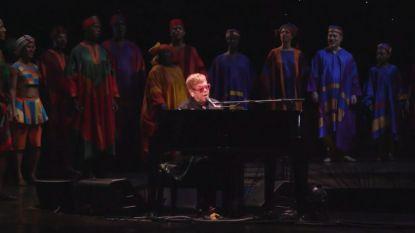 Elton John verrast publiek 'The Lion King'