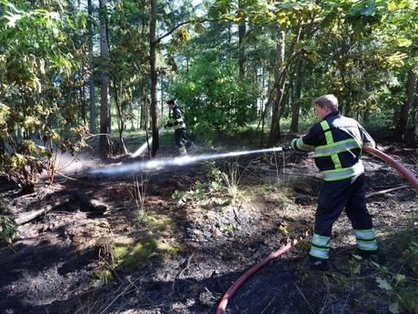 Kleine natuurbrand in Eersel