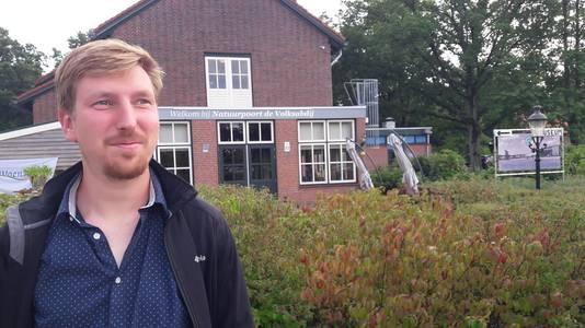 Jan Weverbergh, coördinator van Grenspark Kalmthoutse Heide, bij De Volksabdij in Ossendrecht, waar op 27 oktober weer de Stiltedag wordt gehouden.