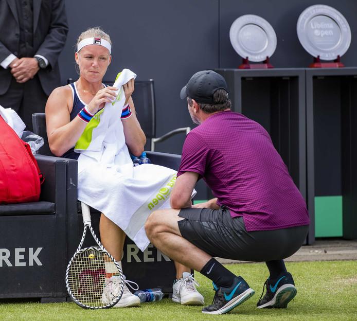 Bertens met coach Sluiter.