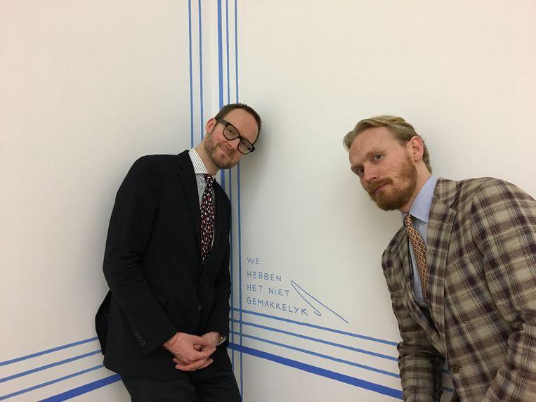 Alexander Mayhew (l) en Jaring Dürst Britt. Beeld Dürst Britt & Mayhew