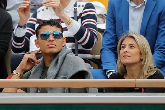 PSG-speler Thiago Silva met zijn vrouw.