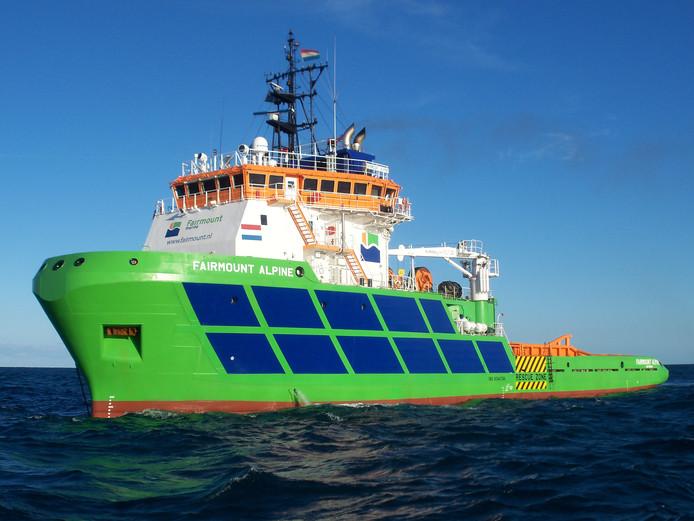 Een van de schepen van Boskalis.
