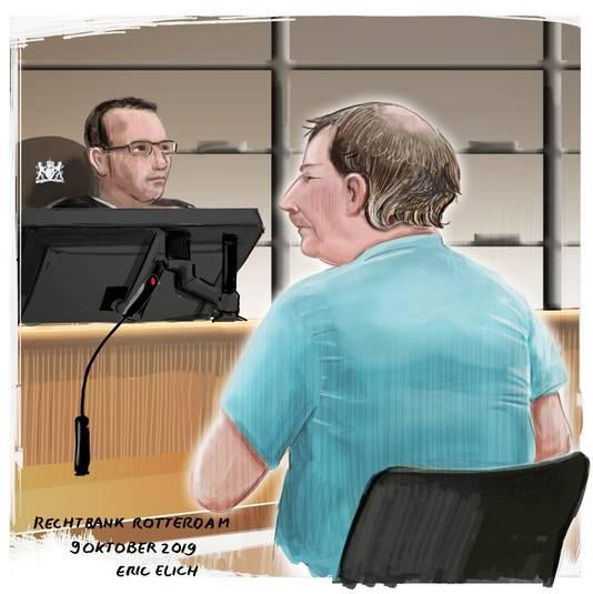 James B. in de rechtbank eind vorig jaar. Vandaag volgde hij de zaak niet. B. is in Amerika en ernstig ziek.