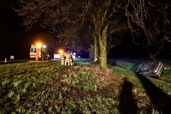 Het ongeluk gebeurde in het buitengebied van Lelystad