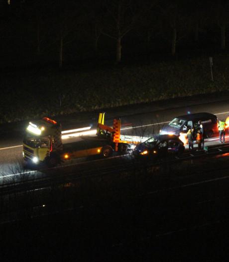 File na ongeval op de A1 bij Hengelo