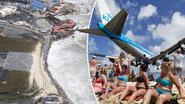 Wereldberoemd Maho Beach op Sint Maarten van de kaart geveegd
