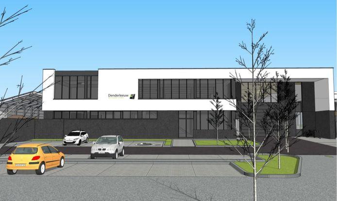 Een simulatiebeeld van de site Van Roy/Veldstraat na de herinrichting.