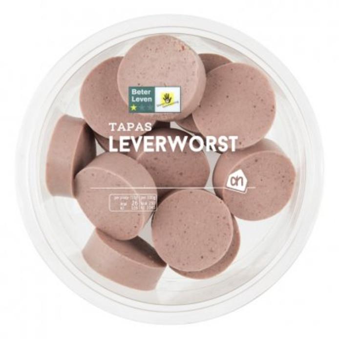 AH Leverworst (170 gram in plakjes).