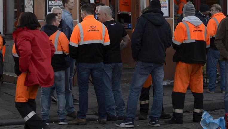 Antwerpse havenarbeiders.