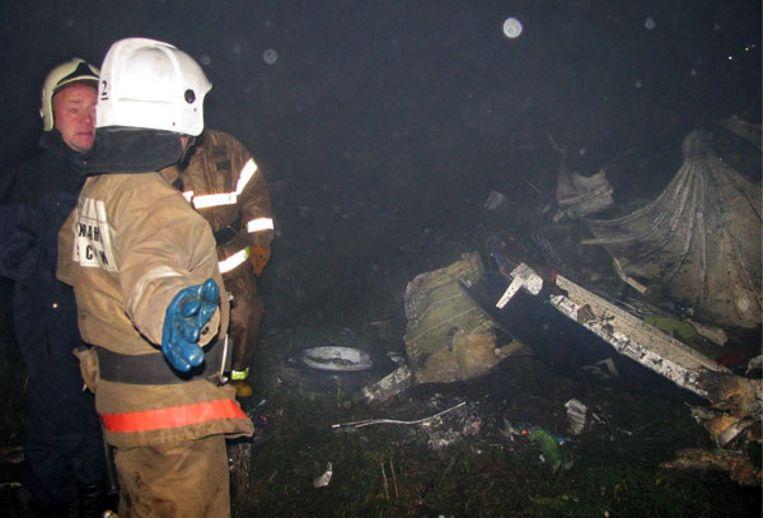 De rechtermotor van de Boeing 737 vloog in brand vlak voor het zou gaan landen in Perm. Dat hebben onderzoekers gezegd. Foto EPA Beeld