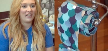 Elle fabrique et vend des rouleaux de papier toilette réutilisables