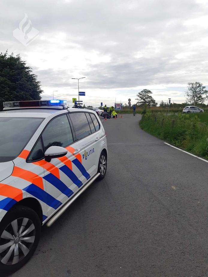 Het ongeval ter hoogte van de splitsing met de Prolkade Noorden en de Kousweg in Zevenhoven.