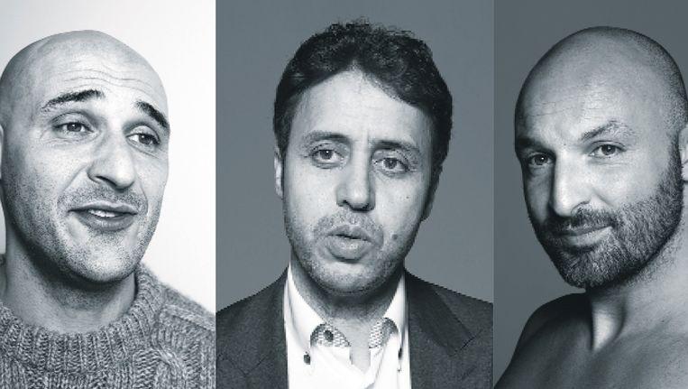 v.l.n.r.: Mohammed Allach, Mohamed Ajouaou en Mohamed Achahboun. Beeld Robin De Puy