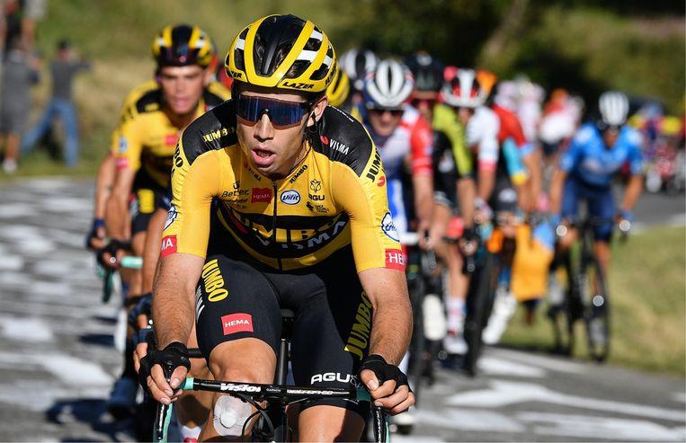 Lucien Van Impe over Wout van Aert: 'Wout is buitengewoon! Hij klimt op kracht, net als Eddy Merckx. Ik weet niet waar zijn limieten liggen, maar dat weet hij zelf misschien ook nog niet.' Beeld
