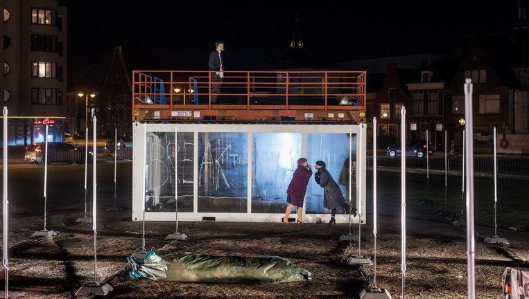 De bubbel van PStheater in Leiden. Beeld Ben van Duin