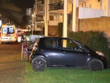 Automobiliste wordt onwel en rijdt grasveld in naast Erasmusweg