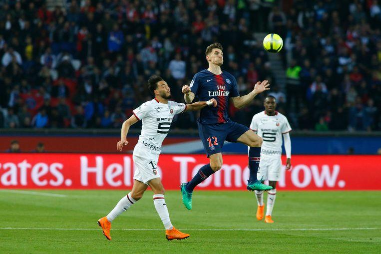 Meunier met PSG de boot in tegen Rennes.