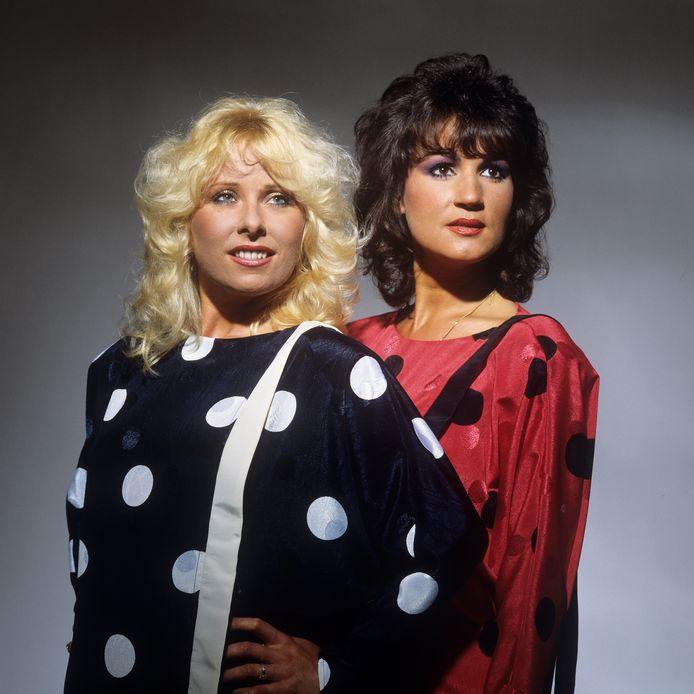 Bonnie St. Claire (l) en José Hoebee in 1985, het jaar waarin hun album 'Herinnering' verscheen.