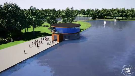 Een artist impression van de campus die binnen 'Central Park Zuid-Holland' zou kunnen verrijzen