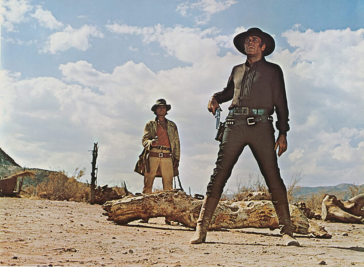 Once Upon a Time in the West (1968) Charles Bronson (links) en Henry Fonda (rechts) Beeld