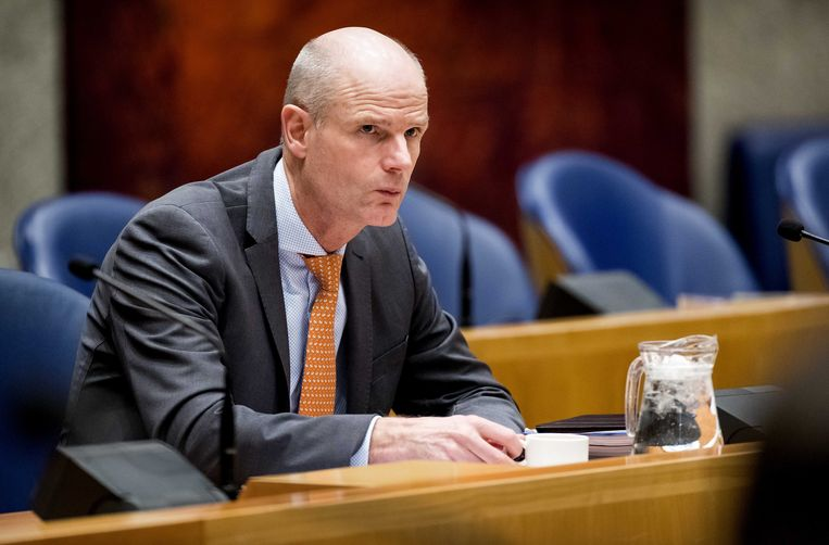 Stef Blok, minister van buitenlandse zaken tijdens een debat in de Tweede Kamer over de verzamelwet Brexit. Beeld ANP