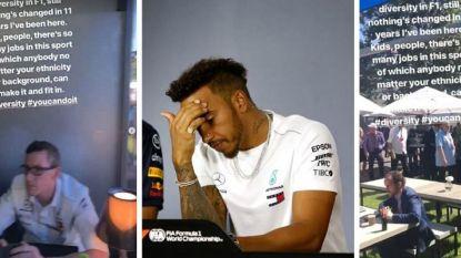 """F1-kampioen Hamilton zorgt voor racismerelletje voor start nieuw seizoen: """"In die 11 jaar is er amper iets veranderd"""""""