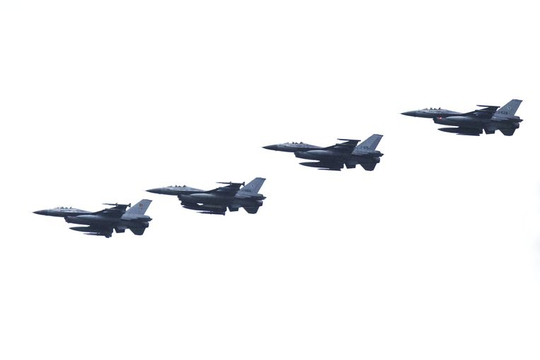 Nederlandse F-16's. Beeld anp