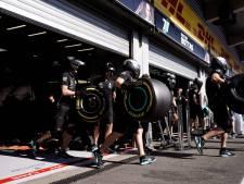Eerste test met grote banden in Formule 1